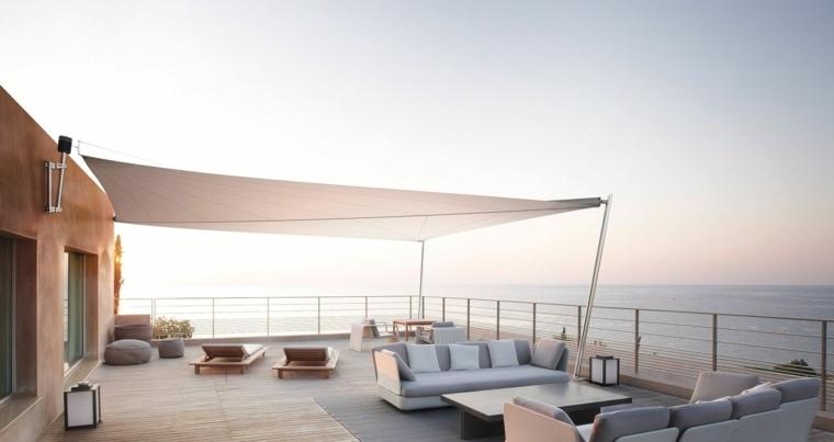 suelo madera terraza moderna muebles diseno original ideas