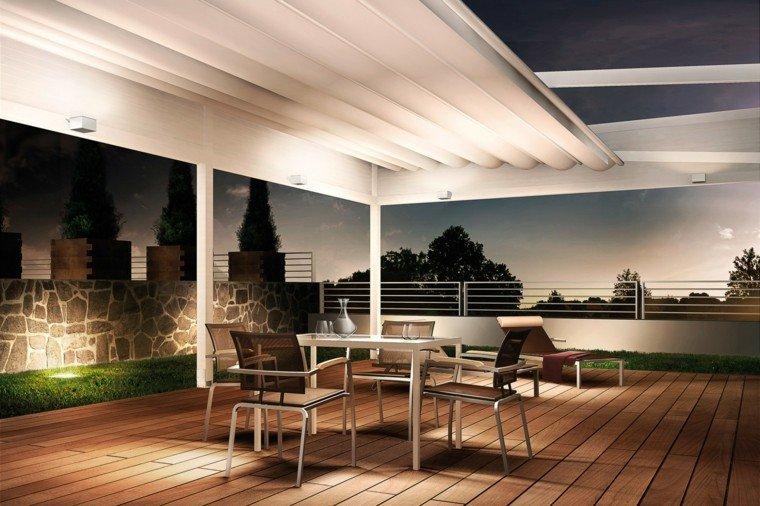 suelo madera terraza moderna pergola coradi diseno ideas