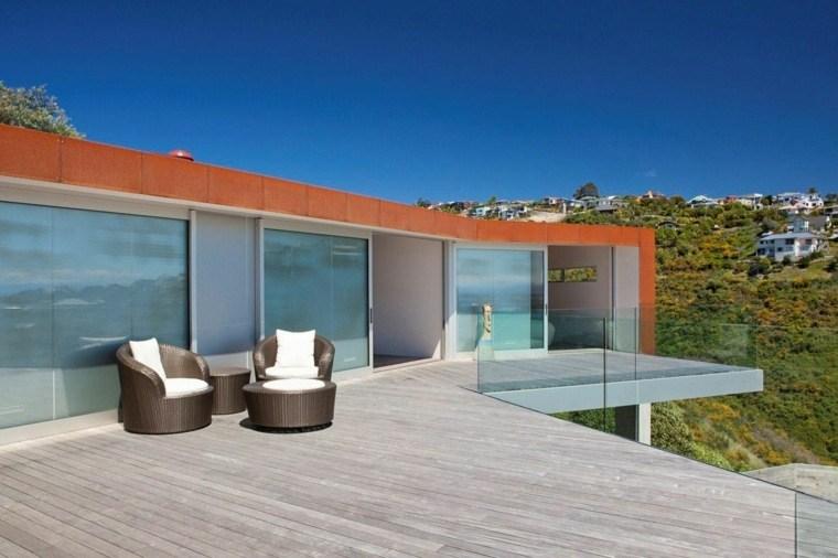 suelo madera terraza moderna sol tendencias ideas