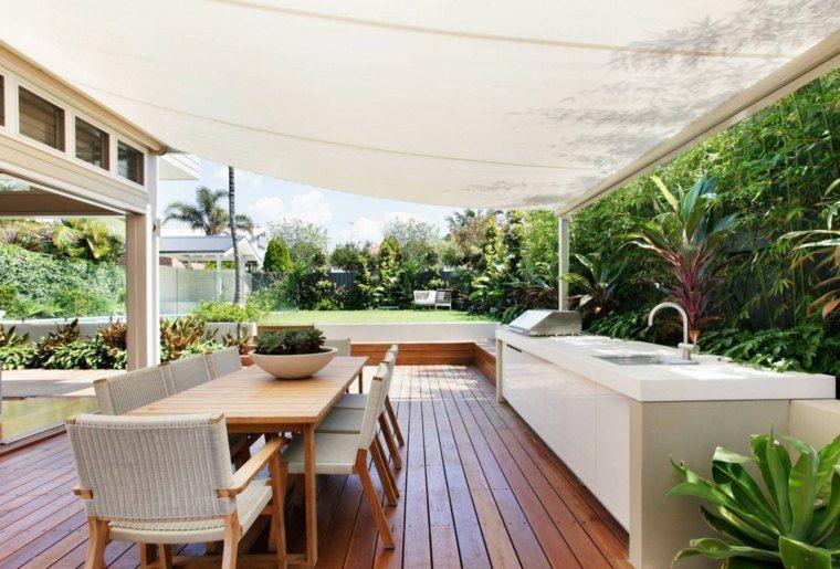Tipos de madera para el suelo de la terraza 37 fotos for Cocinas en terrazas