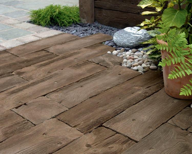 suelos de madera camino retro ideas