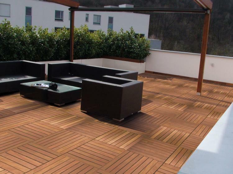 suelos de madera muebles terraza ideas