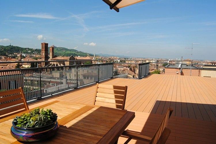 suelos de madera terraza amplia sol ideas