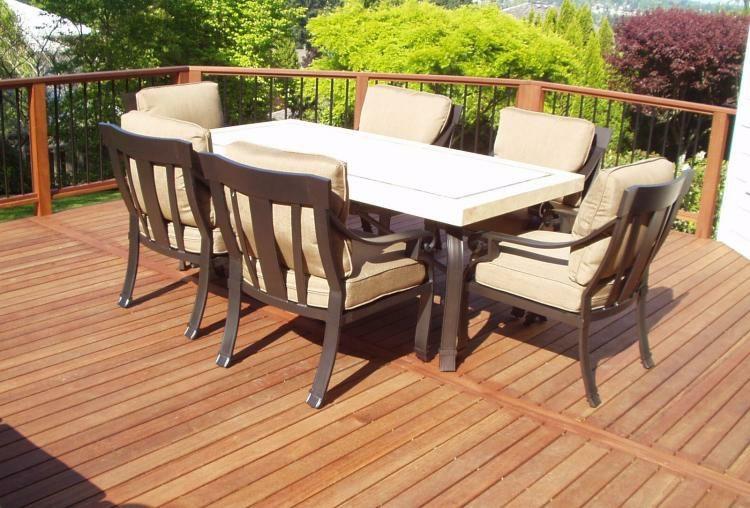 suelos de madera terraza muebles sillones comodos ideas