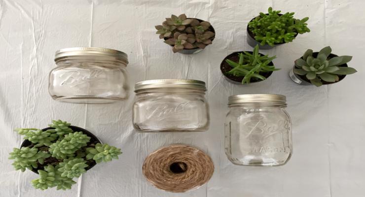 decorar macetas tarros vidrio