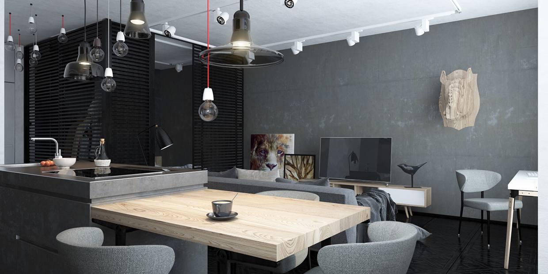 diseño cocina comedor loft