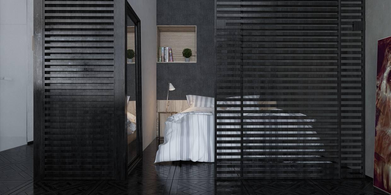 rejas separadoras ambiente dormitorio