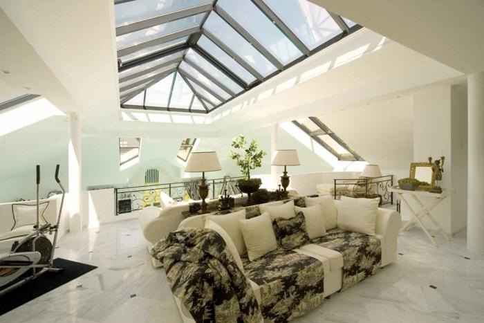 tejados modernos vidrio esquemas metales
