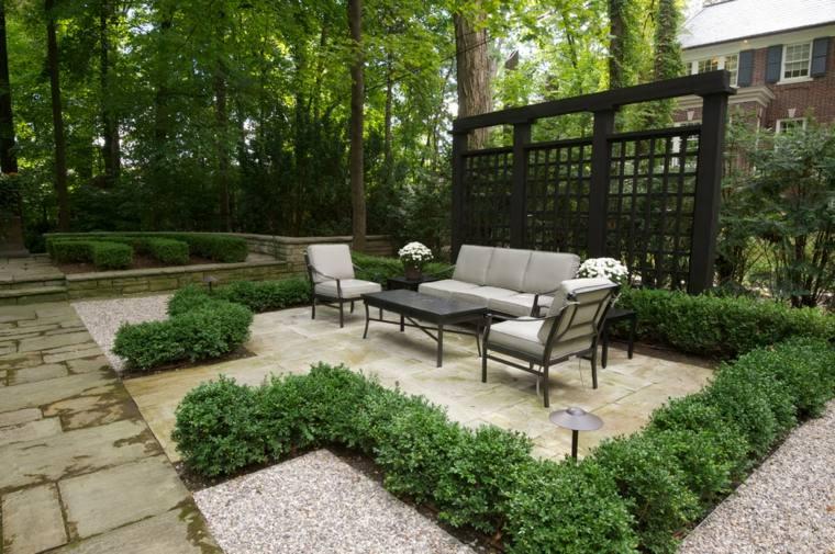 terraza glorieta jardín deco moderna