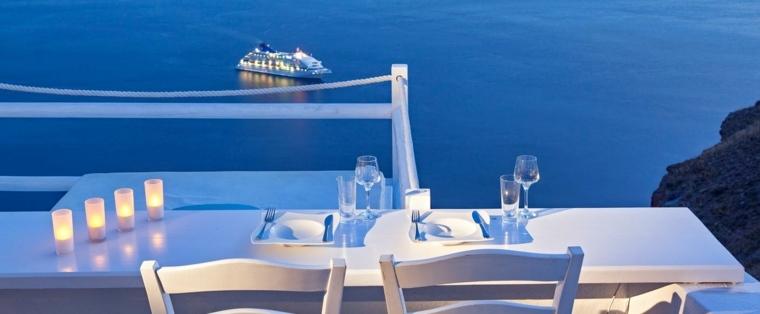 terraza grecia diseno lujoso muebles blancos ideas