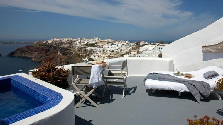 terraza grecia diseno mesas sillas plegables ideas