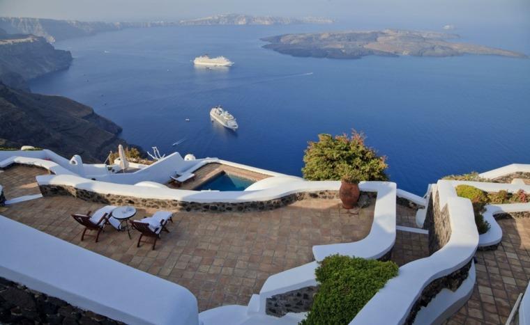 terraza grecia diseno terrazas vistas ideas