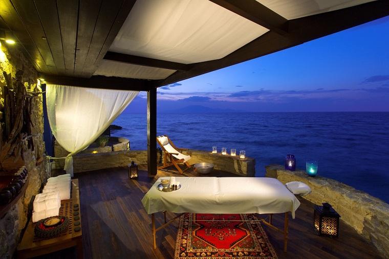 terraza grecia diseno vintage cortinas ideas
