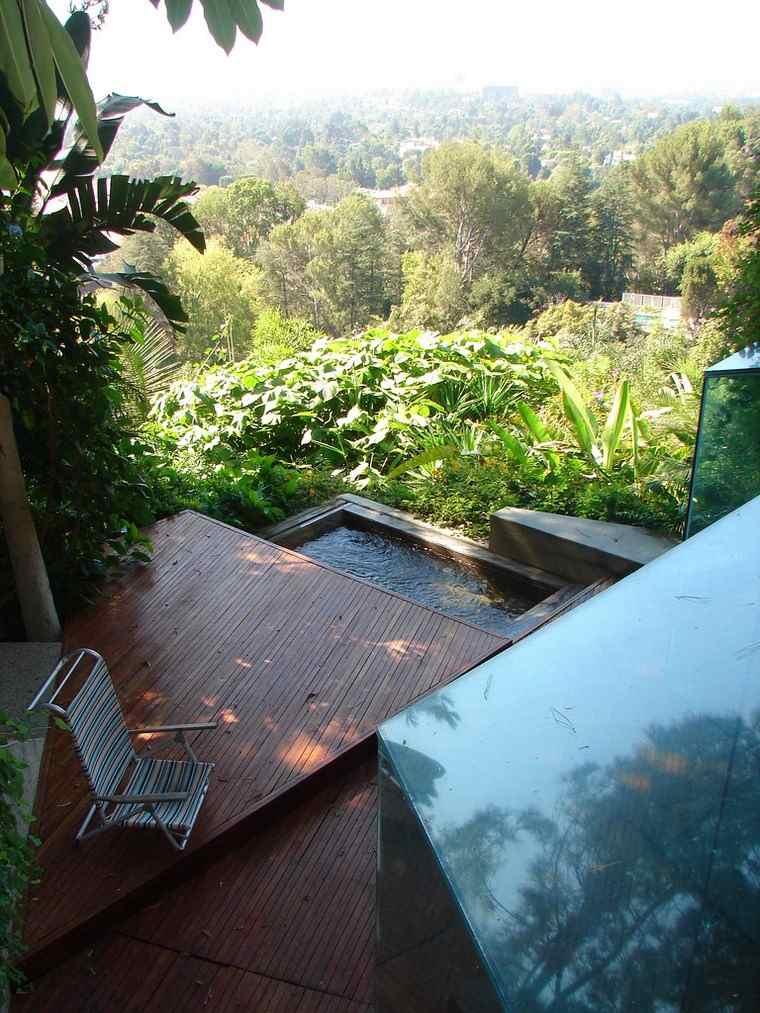 terraza jacuzzi niveles suelo madera ideas