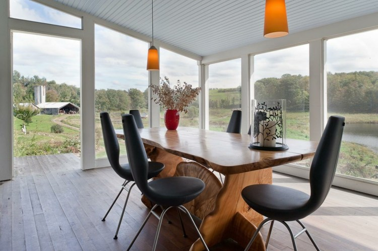 terraza moderna mesa comedor