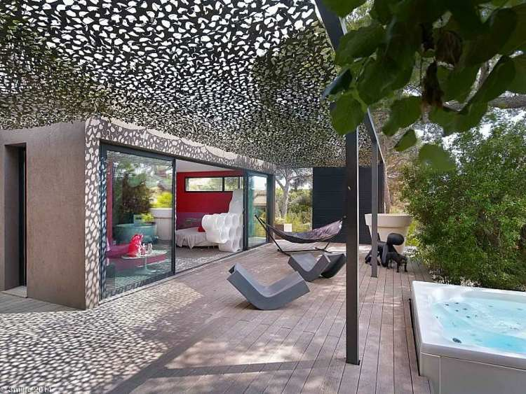 terrazas creatividad redes colores tapices cubiertas