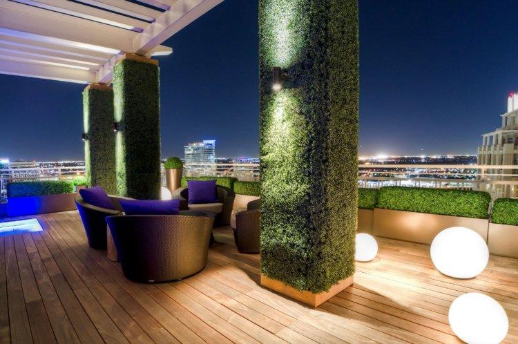 terrazas creatividad salones pisos colores esferas