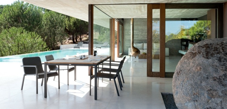 terrazas creatividad salones rocas sillas