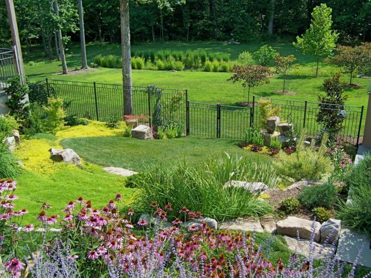 terrazas degradadas bonito jardin