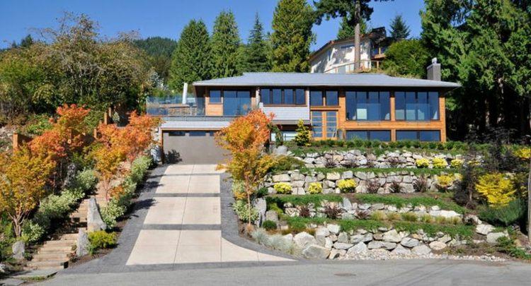 terrazas diseño jardín moderno