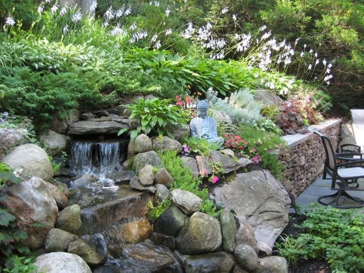 terrazas jardín estilo zen