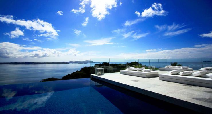 modern design swimming pool terraces