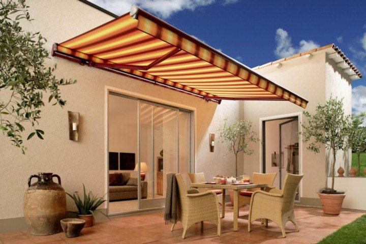 Terrazas pergolas y toldos creaciones pr cticas e - Toldos impermeables para terrazas ...