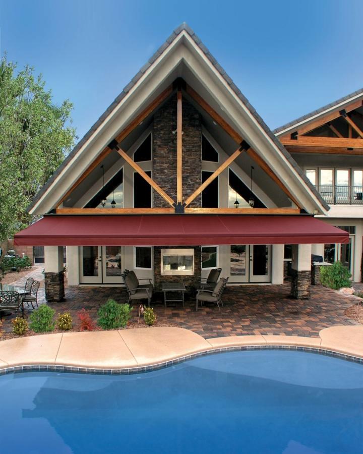 terrazas pergolas listones ambientes piscina