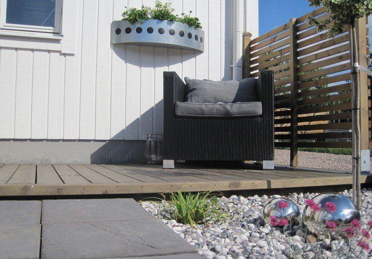 terrazas sillones muebles listones bordes