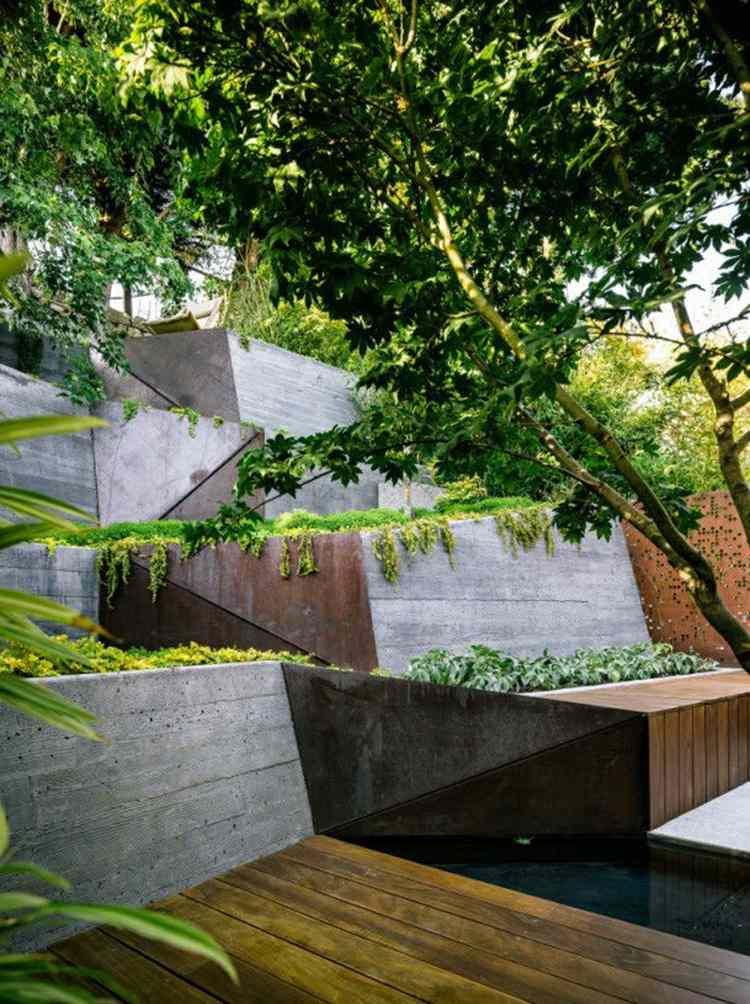 terrazas jardin diseño moderno