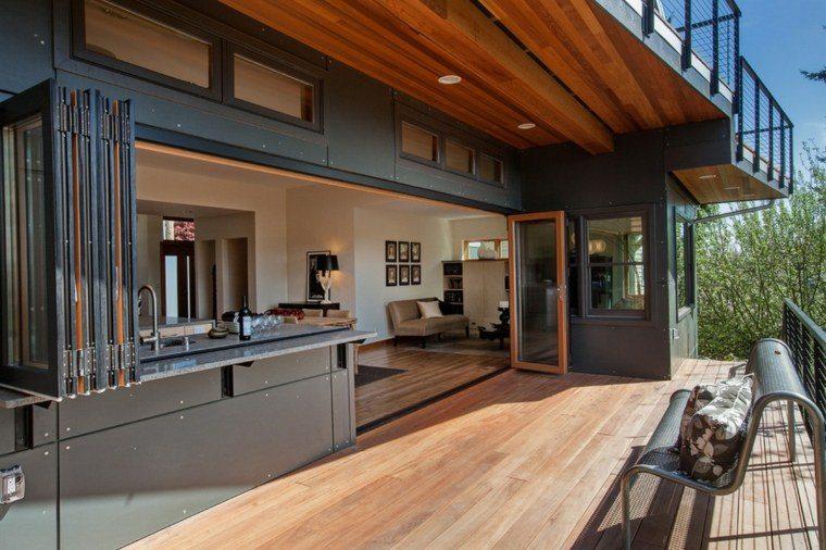 tipos de madera suelo terraza cocina ideas