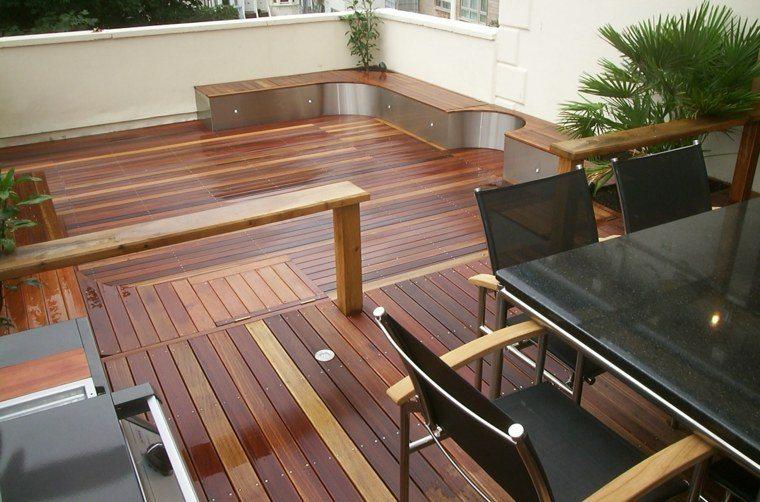 tipos de madera suelo terraza diseno contemporaneo ideas