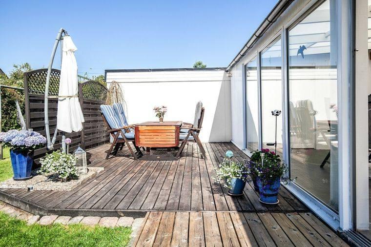 tipos de madera suelo terraza jardin lugar comidas ideas
