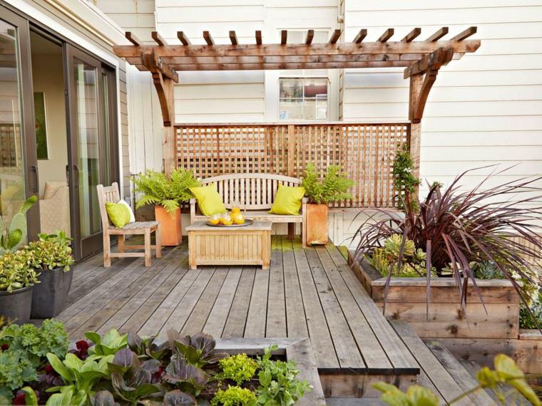 Tipos de madera para el suelo de la terraza 37 fotos - Tipos de pergolas ...