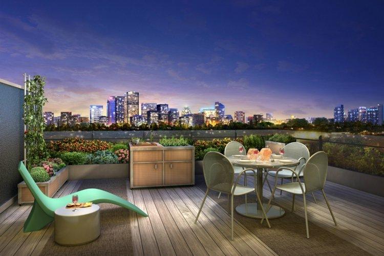 tumbona verde mesita balcon mesa sillas comidas ideas