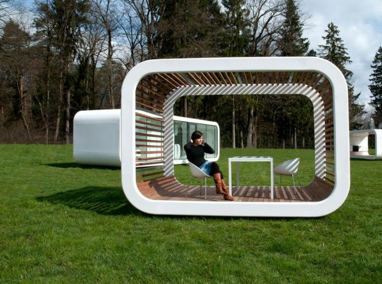 unidad modular pergola moderna blanca preciosa ideas