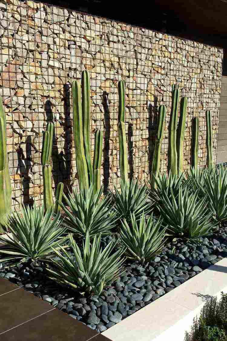 muros gaviones modernos jardin