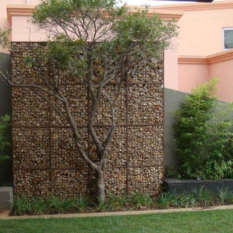valla jardín muro piedras
