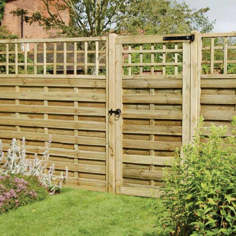 Puertas de jardin arcos verjas cancelas vallas y - Verjas de madera ...