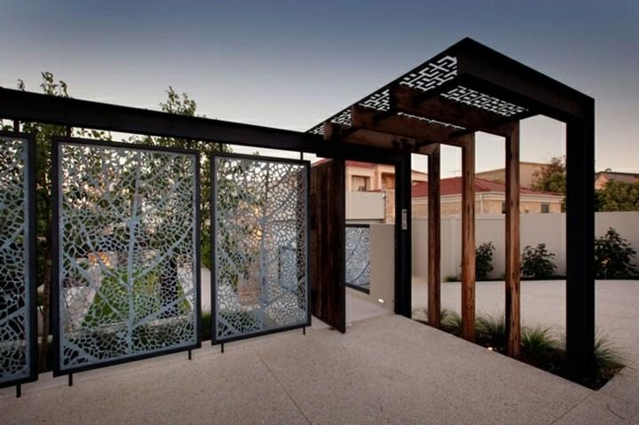 vallas ideas detalles exteriores tejados madera