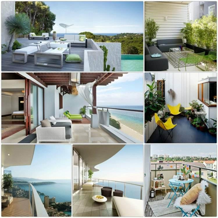 varias opciones balcones muebles modernos ideas
