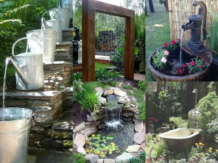 varias opciones jardin moderno ideas