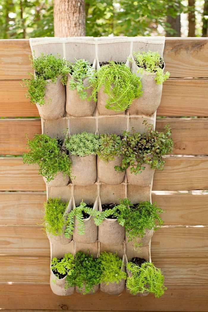 veintidos opciones hierbas bolsas pared ideas