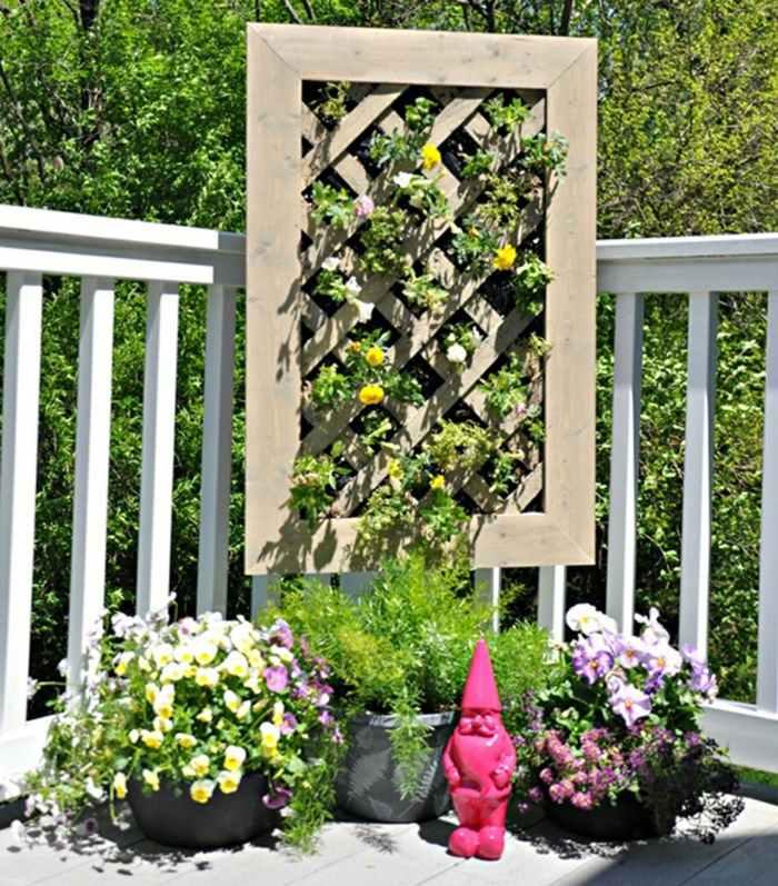 veintidos opciones hierbas jardin vertical manualidades ideas