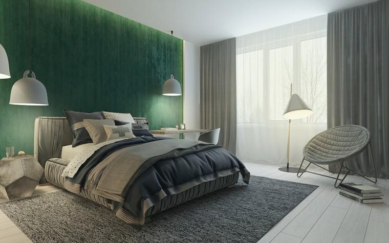 decoración verde azulado diseño cuarto