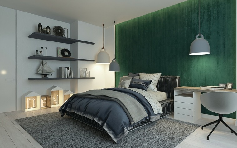 verde color dormitorio moderno