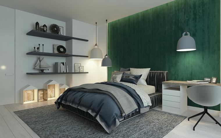 verde color dormitorio moderno