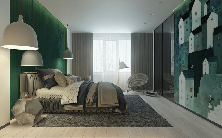 verde decoración cuarto infantil