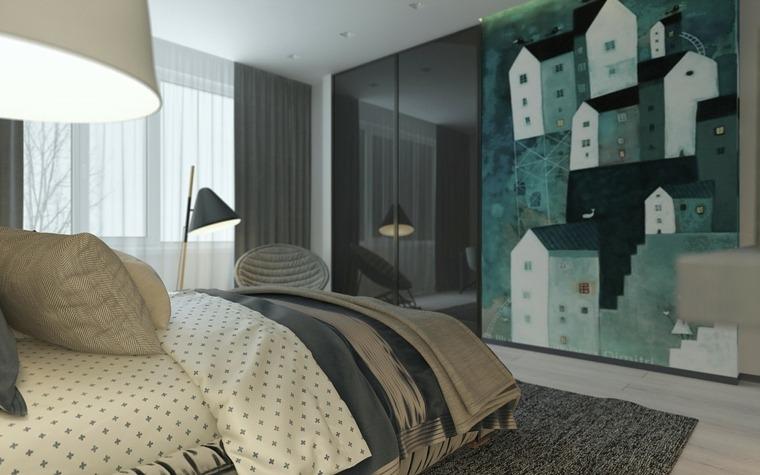 verde habitacion de estilo moderno
