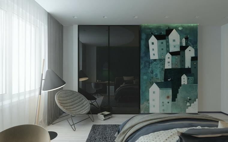 verde oscuro decoración moderna